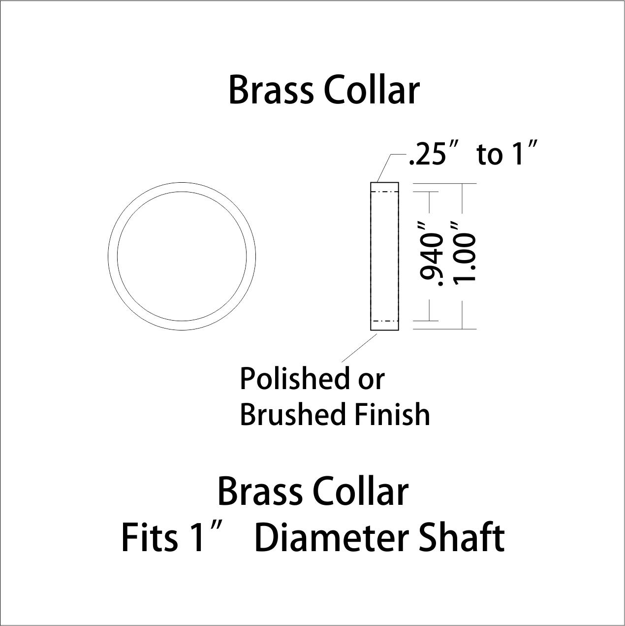 Walking Cane Brass Ring