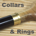 Walking Cane Collars and Rings