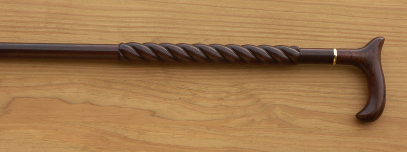 Manhattan Twist Rosewood Walking Cane