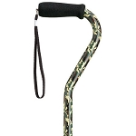 Camouflage Adjustable Offset Walking Cane