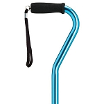 Adjustable Offset Walking Cane - Blue