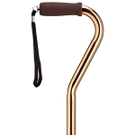 Adjustable Offset Walking Cane - Bronze