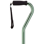 Adjustable Offset Walking Cane - Mint