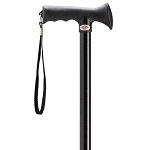 Black Overmold Ergonomic Walking Cane