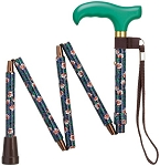 Mini-Folding Adjustable Walking Cane - Trumpet Vines