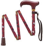 Mini-Folding Adjustable Walking Cane - Fuchsia