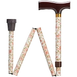 Floral Folding Walking Cane