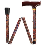 Paisley Folding Walking Cane