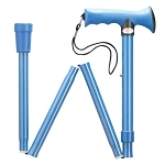 Ergonomic Soft Grip Folding Walking Cane - Blue
