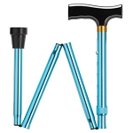 Blue Folding Walking Cane