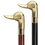Brass Duck Head Walking Cane