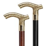 Ladies Brass Embossed Derby Walking Cane