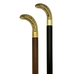 Brass King Cobra Walking Cane