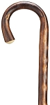 Extra Long Crook walking Cane - Natural Bark Finish