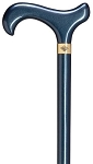 Ladies Ladies Teal High Gloss Walking Cane