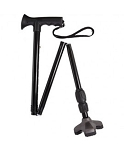 Soft Step Folding Walking Cane TPR - Black