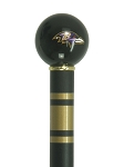 Baltimore Ravens Walking Cane Featuring a Officially Licensed NFL Ball Handle