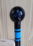 Carolina Panthers Walking Cane Featuring a Officially Licensed NFL Ball Handle