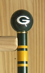 Green Bay Packers Walking Cane Featuring a Officially Licensed NFL Ball Handle