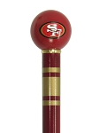 San Francisco 49ers Walking Cane Featuring a Officially Licensed NFL Ball Handle