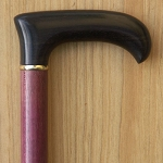 Cosmopolitan walking cane - Purple Heart Wood Shaft