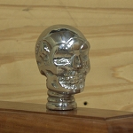 Chrome Scull Walking Cane Handle