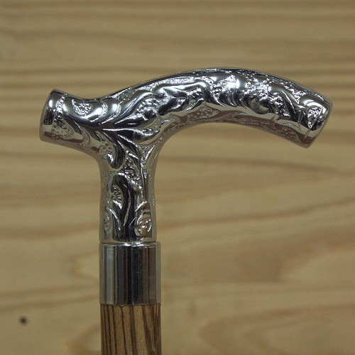 Derby Chrome Embossed Walking Cane Handle