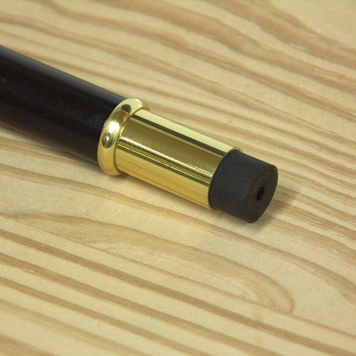 Brass Walking Cane Tip - Polished Finish - Fits 3/4
