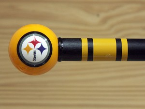 Pittsburgh Steelers Walking Cane Cane Featuring a Officially Licensed NFL Ball Handle