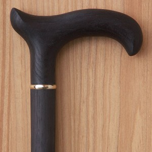 Derby Hickory Wood Walking Cane With Black Finish