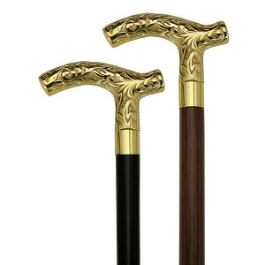 Brass Embossed Derby Walking Cane
