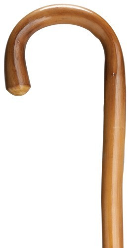 Extra Tall Crook Walking Cane - Natural Chestnut
