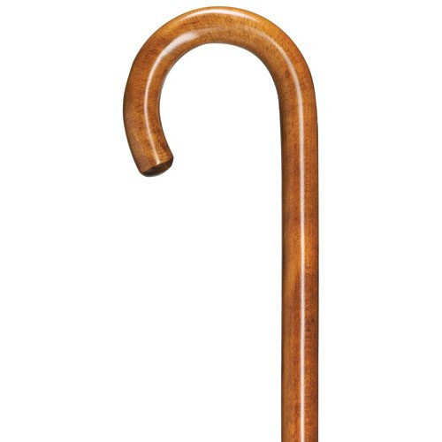 Fashion Color Crook Walking Cane - Cherry